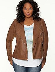 Ribbed moto jacket