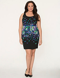 Printed sheath dress by LANE BRYANT