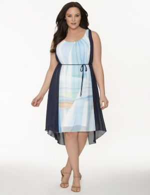 Lane Collection colorblock Grecian dress