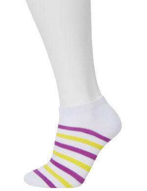 Striped & solid sport socks 3-pack