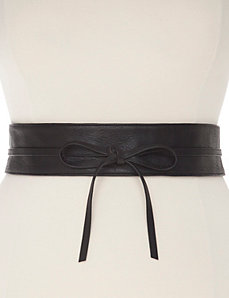 Smooth obi wrap belt