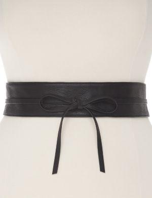Smooth obi wrap belt