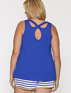 Cross back sleep tank