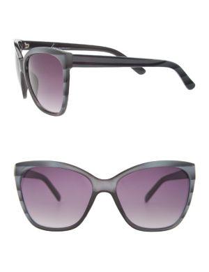 Striped cat-eye sunglasses