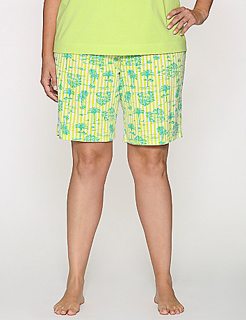 Striped palm Bermuda sleep short