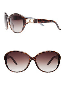 Tortoiseshell & gold tone sunglasses by LANE BRYANT