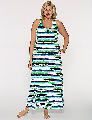 Splatter striped sleep maxi