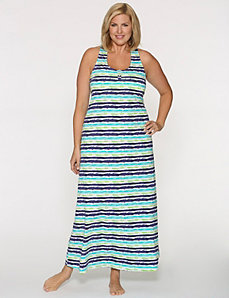 Splatter striped sleep maxi by LANE BRYANT