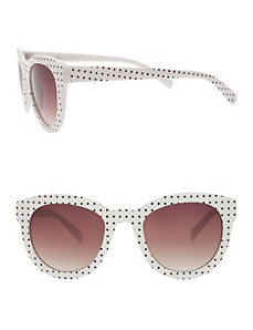 Polka dot cat-eye sunglasses