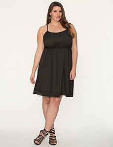 Perforated cross-back dress by LANE BRYANT