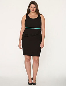 Textured peplum dress by LANE BRYANT
