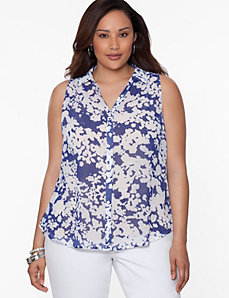 Printed envelope back blouse