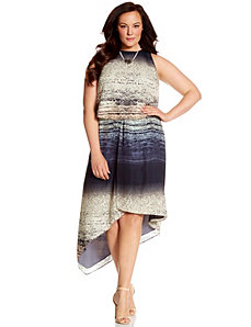 Lane Collection layered printed dress by LANE BRYANT