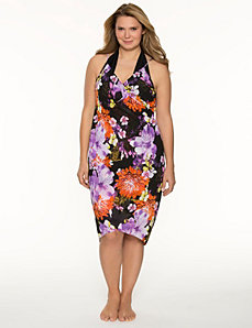 Floral pareo swim cover-up by LANE BRYANT