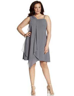 Lane Collection slip dress with chiffon