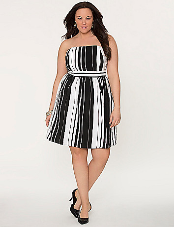 Striped tube dress