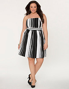 Striped tube dress by LANE BRYANT
