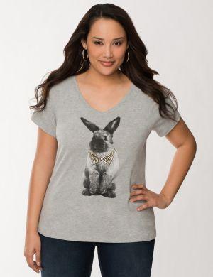 Embellished bunny tee