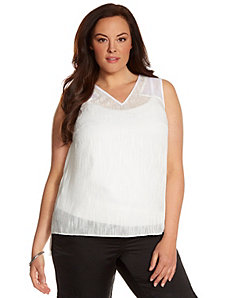 Lane Collection clip jacquard tunic by LANE BRYANT