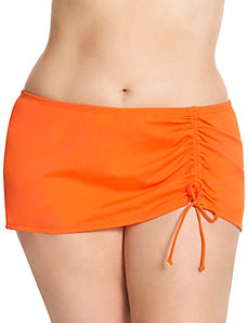 Drawstring swim skirt