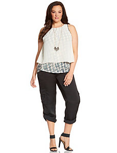 Lane Collection envelope back layered top by LANE BRYANT