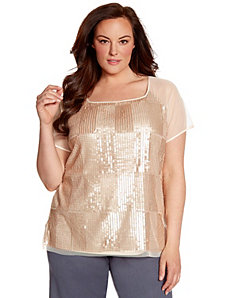 Lane Collection sequin front tee by LANE BRYANT