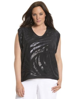 Lane Collection sequin top