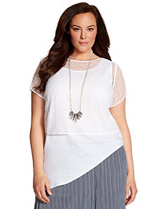 Lane Collection layered lace top