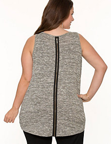 Zipper trim metallic tank