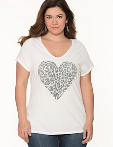 Studded heart tee by Seven7