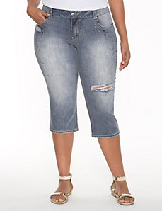 Studded fashion capri by LANE BRYANT