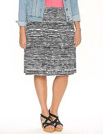 Zebra short knit skirt