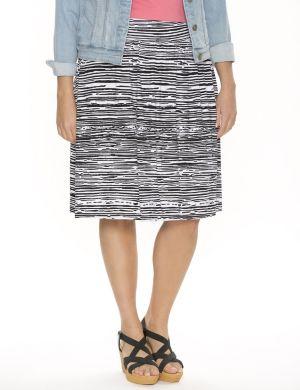 Zebra short knit skirt