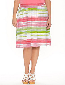 Striped knit skirt by LANE BRYANT