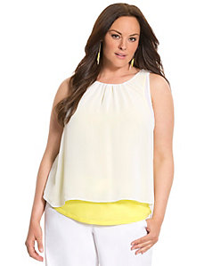 Lane Collection layered tank by LANE BRYANT
