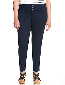 Dark rinse high waisted skinny jean