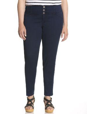 Dark rinse high waisted skinny jean