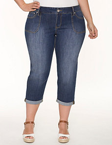 Chop pocket Weekend capri by LANE BRYANT