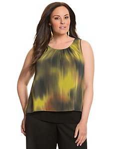 Lane Collection printed layered tank by LANE BRYANT