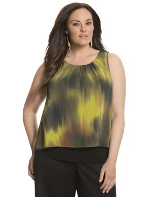 Lane Collection printed layered tank