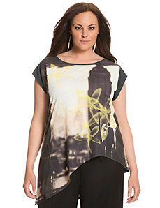 Lane Collection asymmetric graphic tee