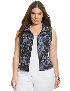 Reversible denim vest