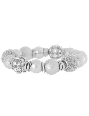 Mixed silvertone bead bracelet by Lane Bryant