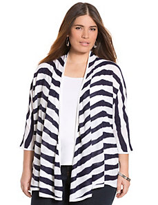 Striped dolman cardigan