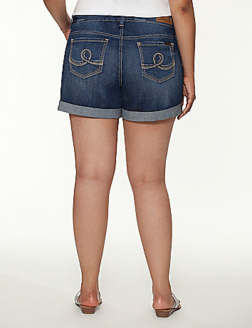 Rolled cuff denim short by Seven7