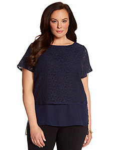 Lane Collection layered top by LANE BRYANT