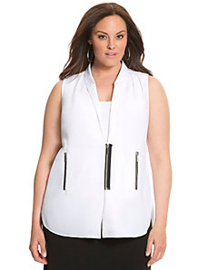 Lane Collection draped back zipper top