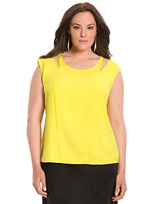 Lane Collection cut-out shoulder top
