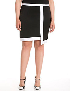 Lane Collection asymmetric pencil skirt