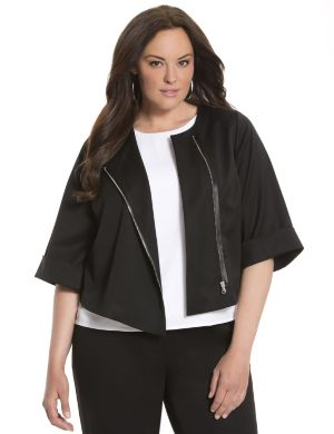 Lane Collection cropped zip jacket